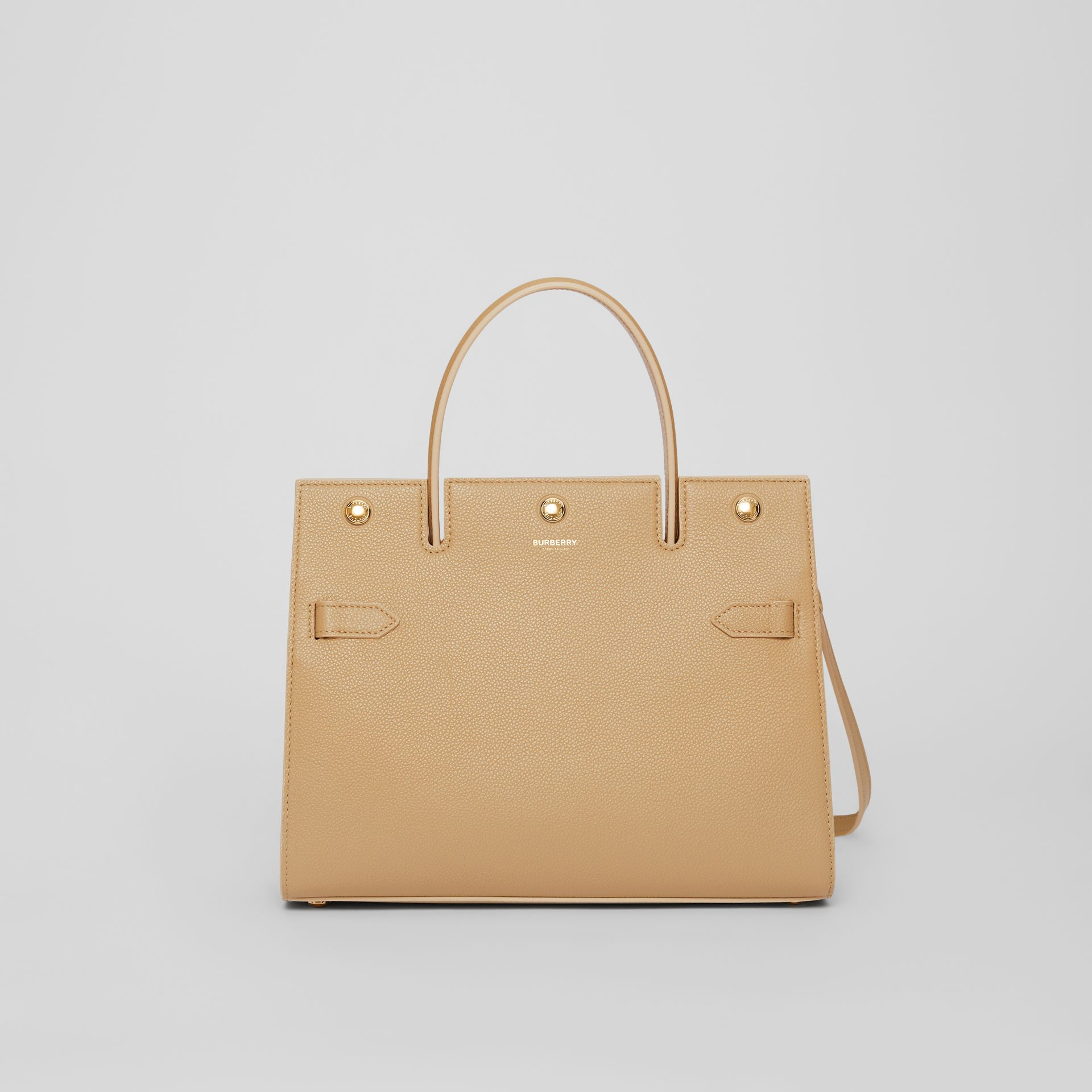 Small Leather Title Bag in Honey - Women | Burberry Australia - gallery image 0