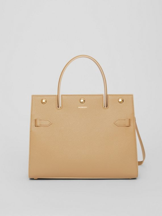 Small Leather Title Bag in Honey