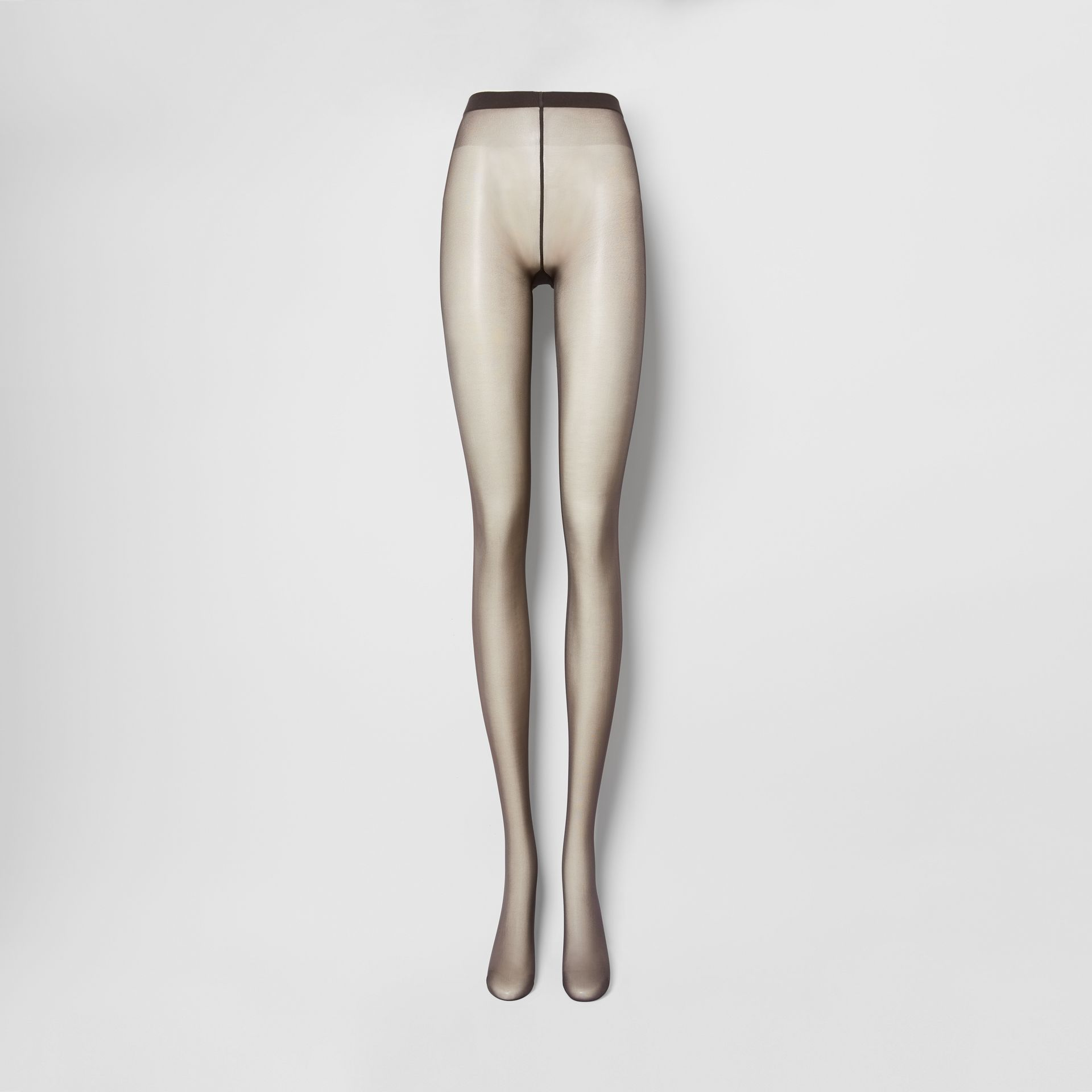 Monogram Motif Seamed Tights in Dark Mocha - Women | Burberry - gallery image 0