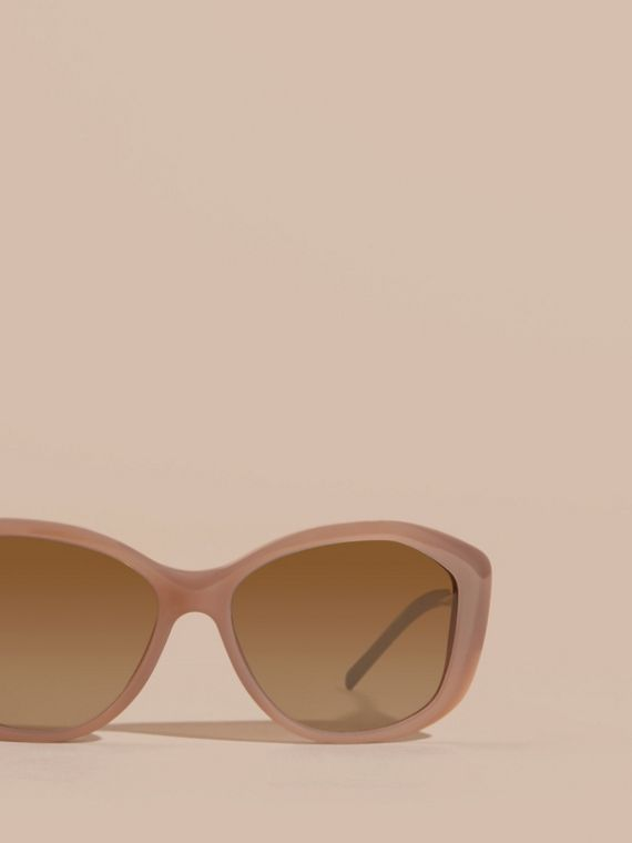 Opal beige Gabardine Lace Collection Square Frame Sunglasses Opal Beige - cell image 2