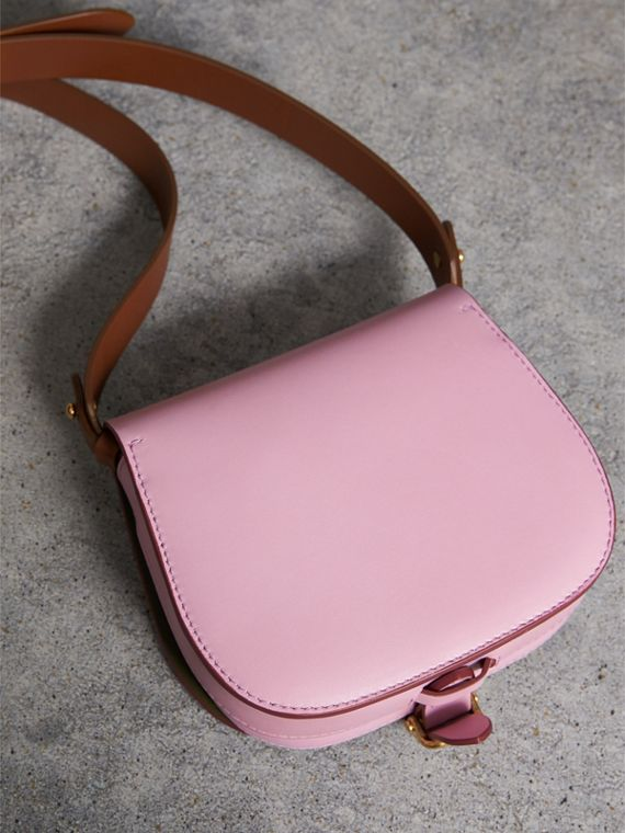 The Satchel in Leather in Pale Lavender - Women | Burberry Australia - cell image 3