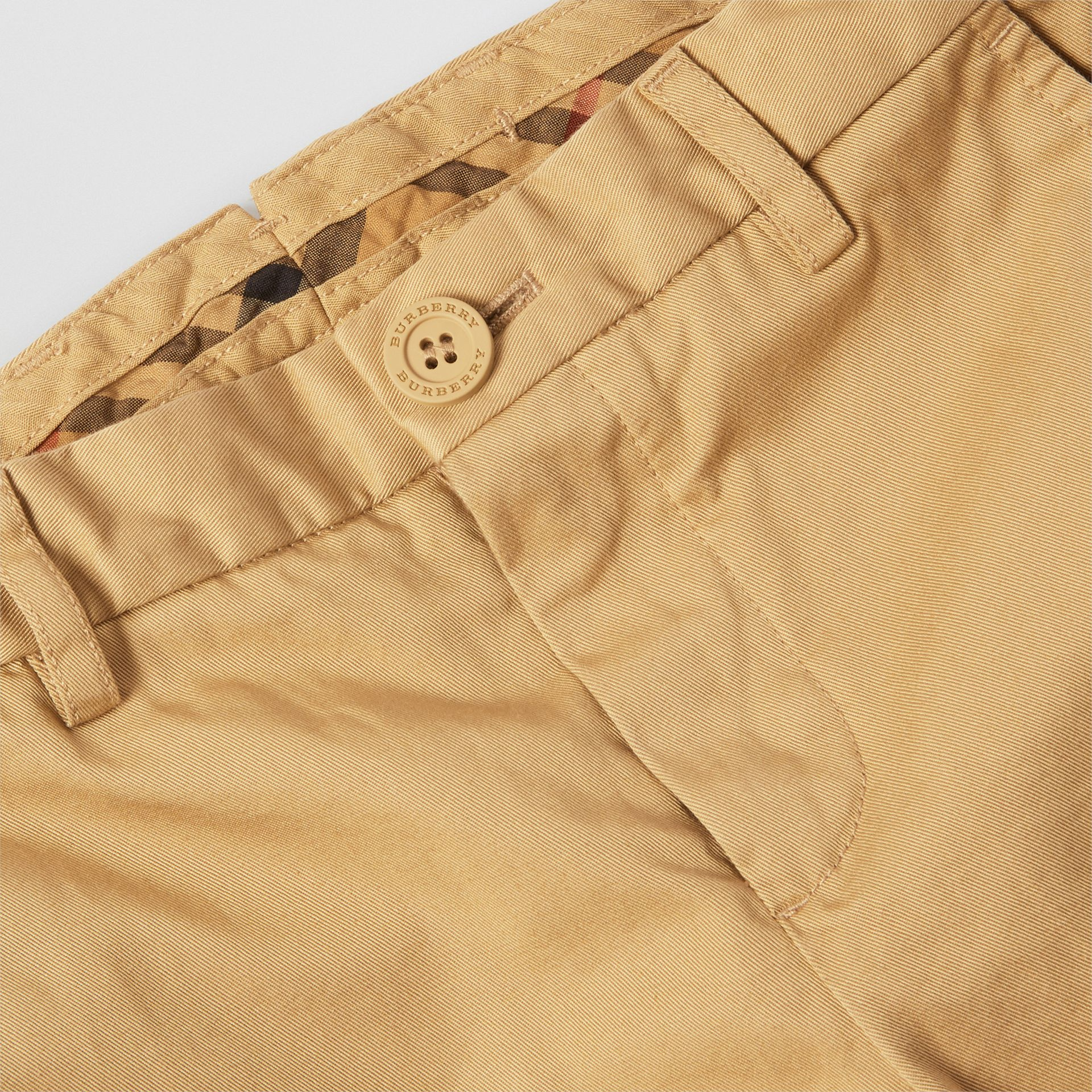 Cotton Chinos in Taupe | Burberry - gallery image 1