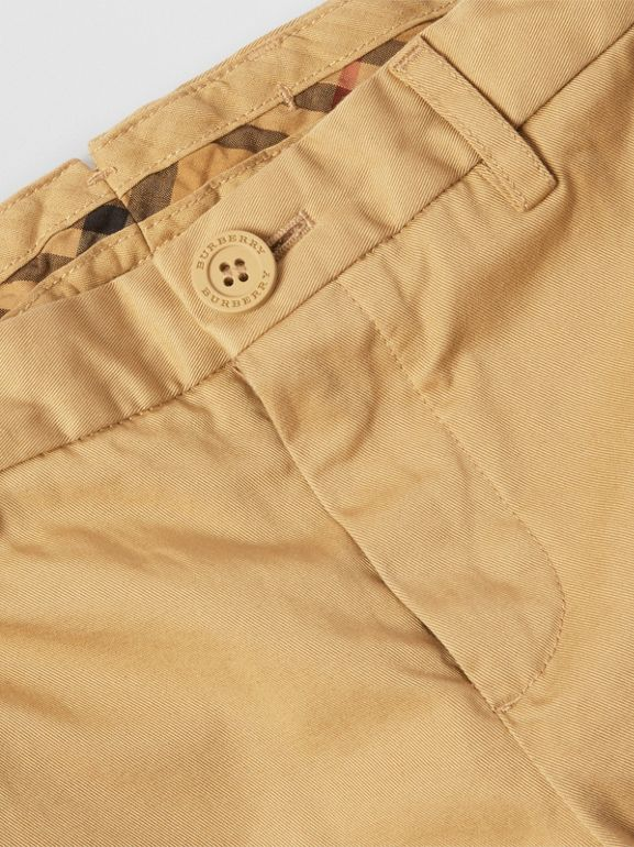 Cotton Chinos in Taupe | Burberry - cell image 1
