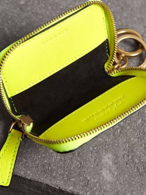 Embossed Leather Notebook Charm in Bright Yellow | Burberry Australia - cell image 3