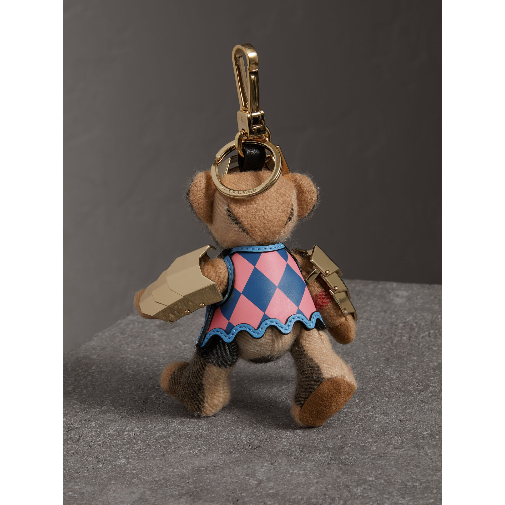 Thomas Bear Charm with Knight Armour Detail in Camel Check | Burberry Canada - gallery image 3