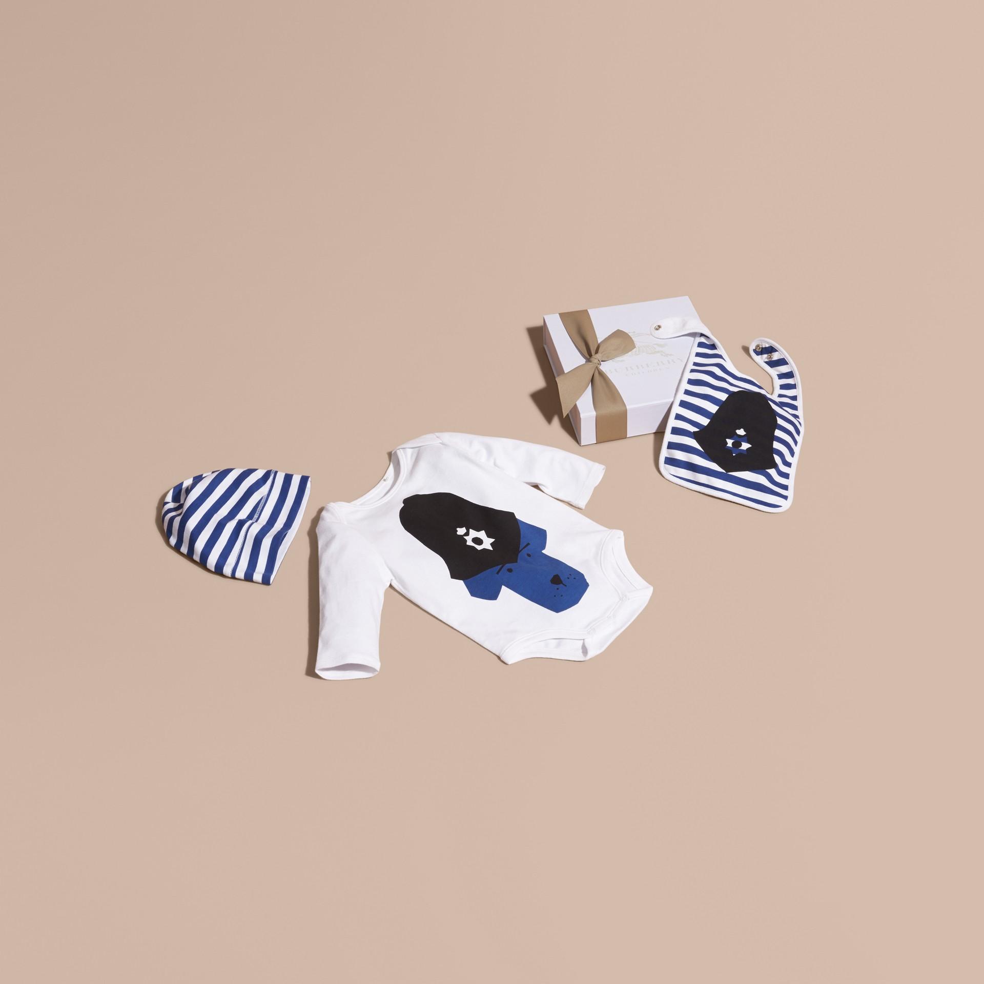 Blanc Set cadeau trois pièces en coton - photo de la galerie 1