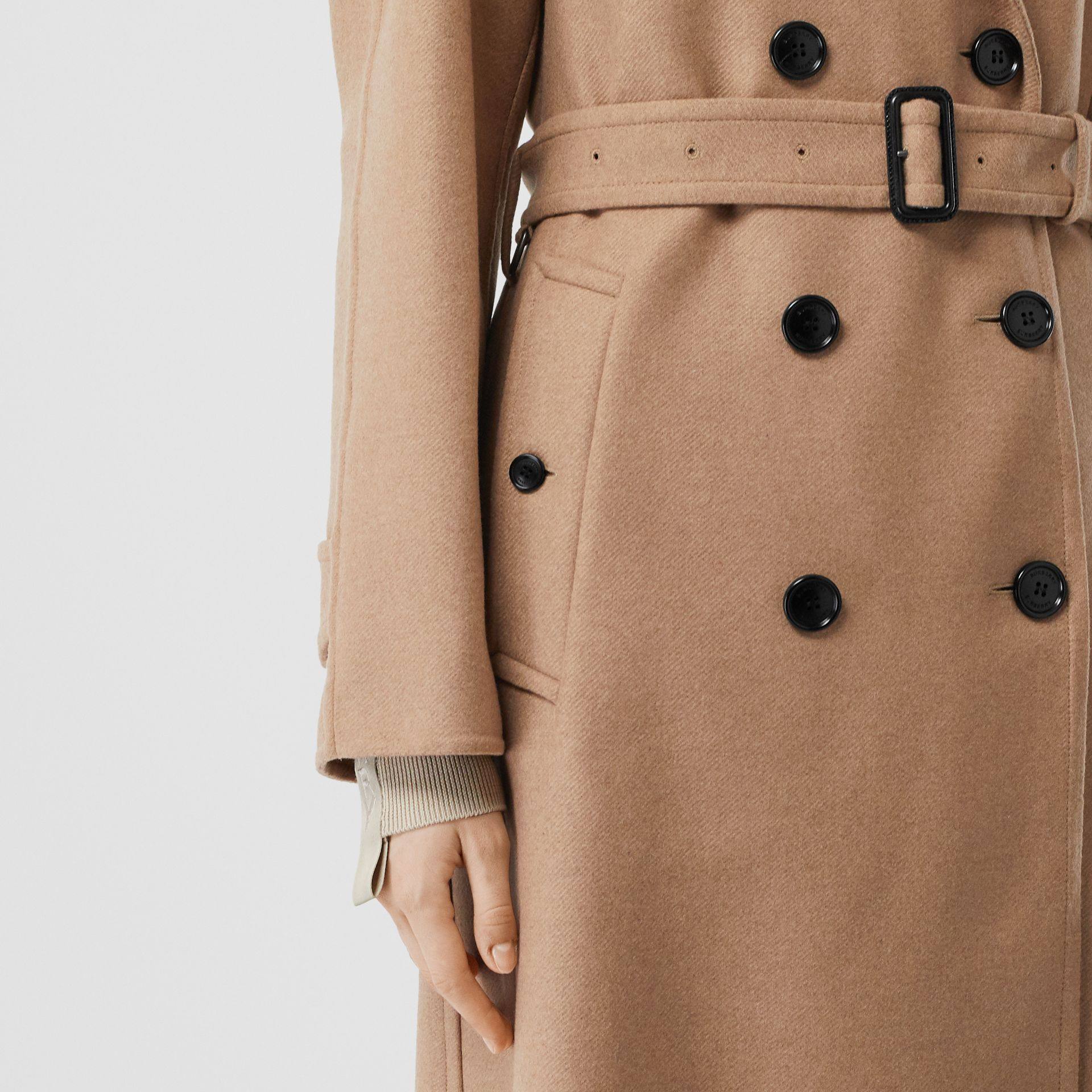 Double-faced Cashmere Trench Coat in Camel - Women | Burberry - gallery image 5