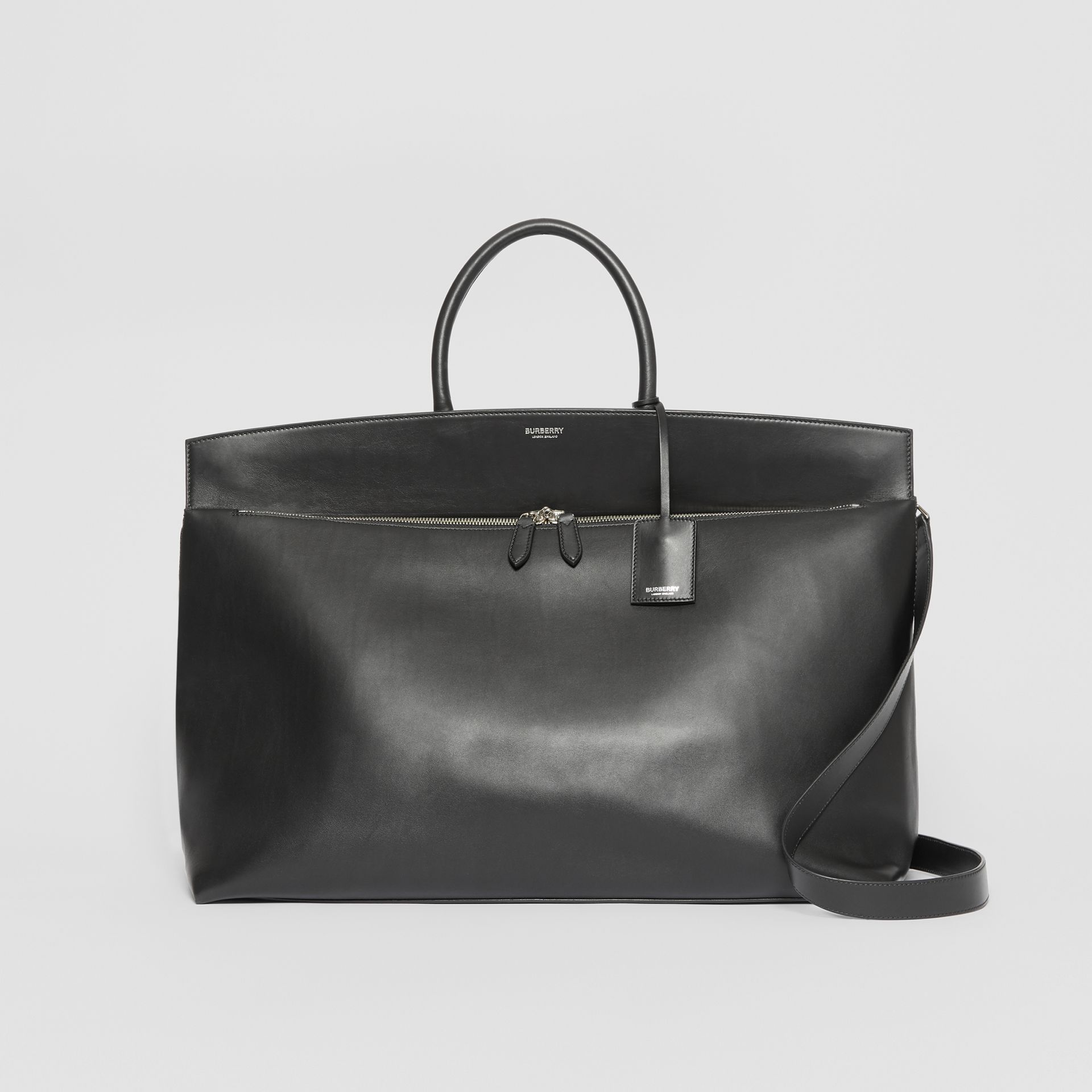 Extra Large Leather Society Top Handle Bag in Black - Men | Burberry - gallery image 0