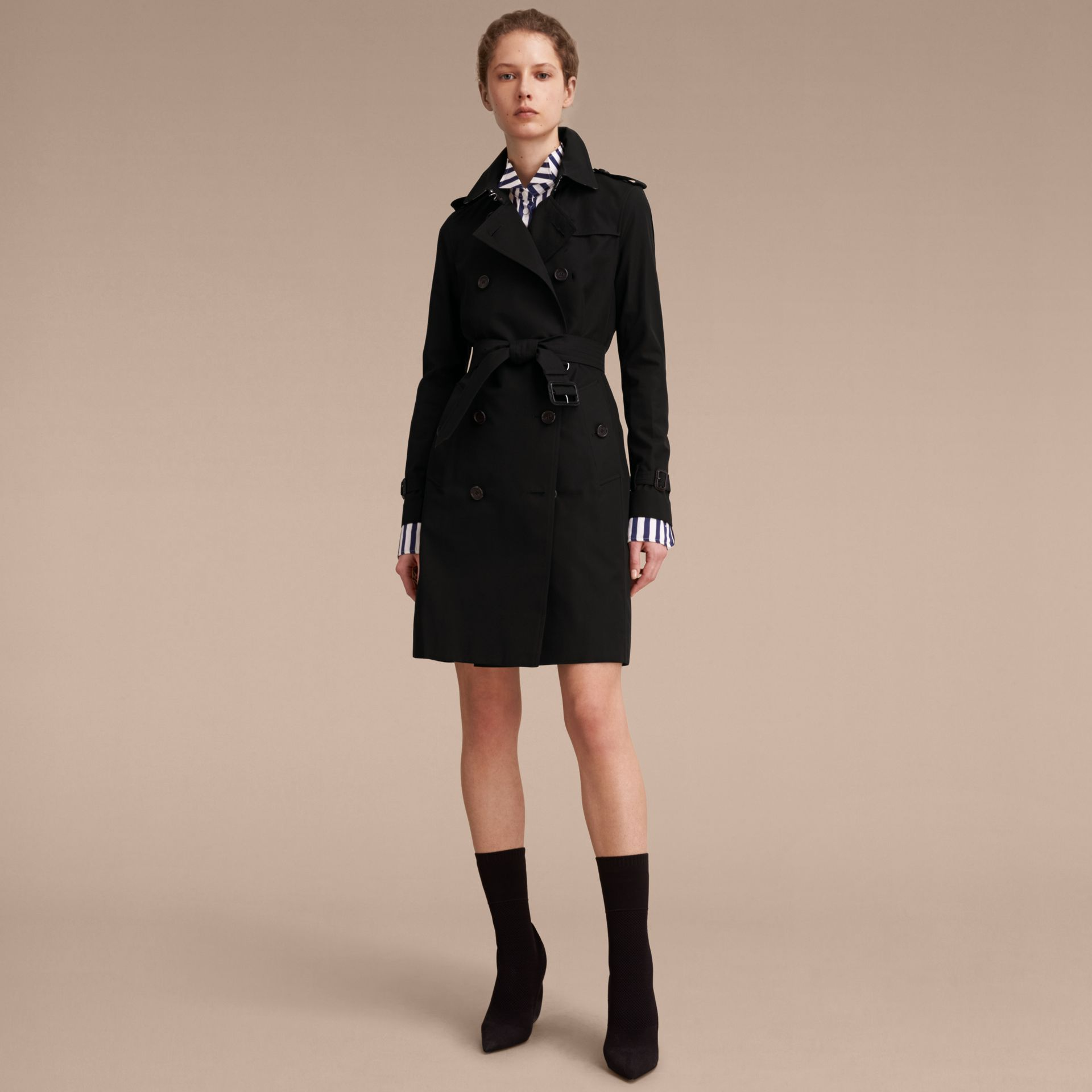Black The Kensington – Long Heritage Trench Coat Black - gallery image 8
