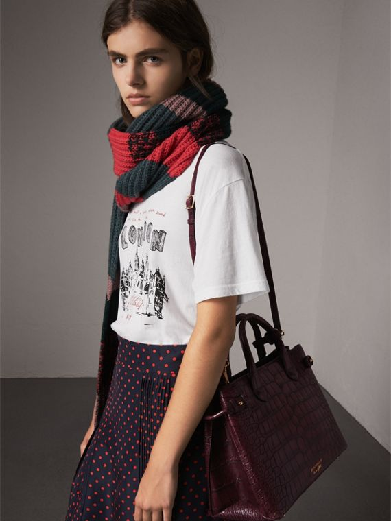 The Medium Banner in Alligator in Elderberry - Women | Burberry - cell image 3