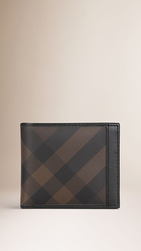 Smoked check chocolate Smoked Check Divider Wallet - Image 1