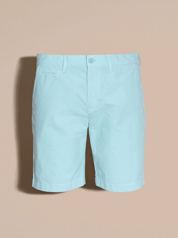 Pearl blue Cotton Poplin Chino Shorts Pearl Blue - cell image 2