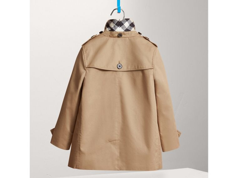 Detachable Hood Cotton Car Coat in Honey - Girl | Burberry United Kingdom - cell image 2