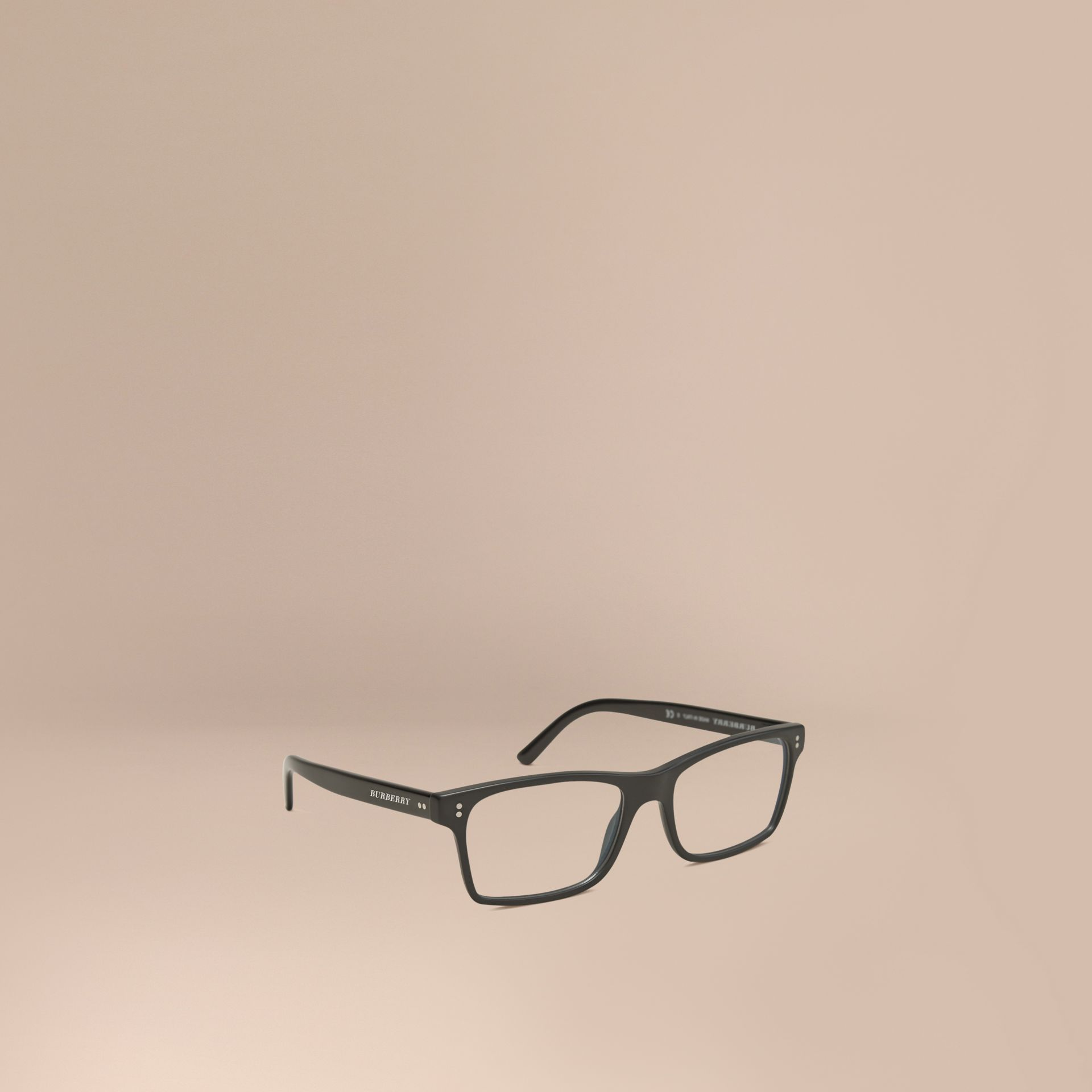 Black Rectangular Optical Frames Black - gallery image 1