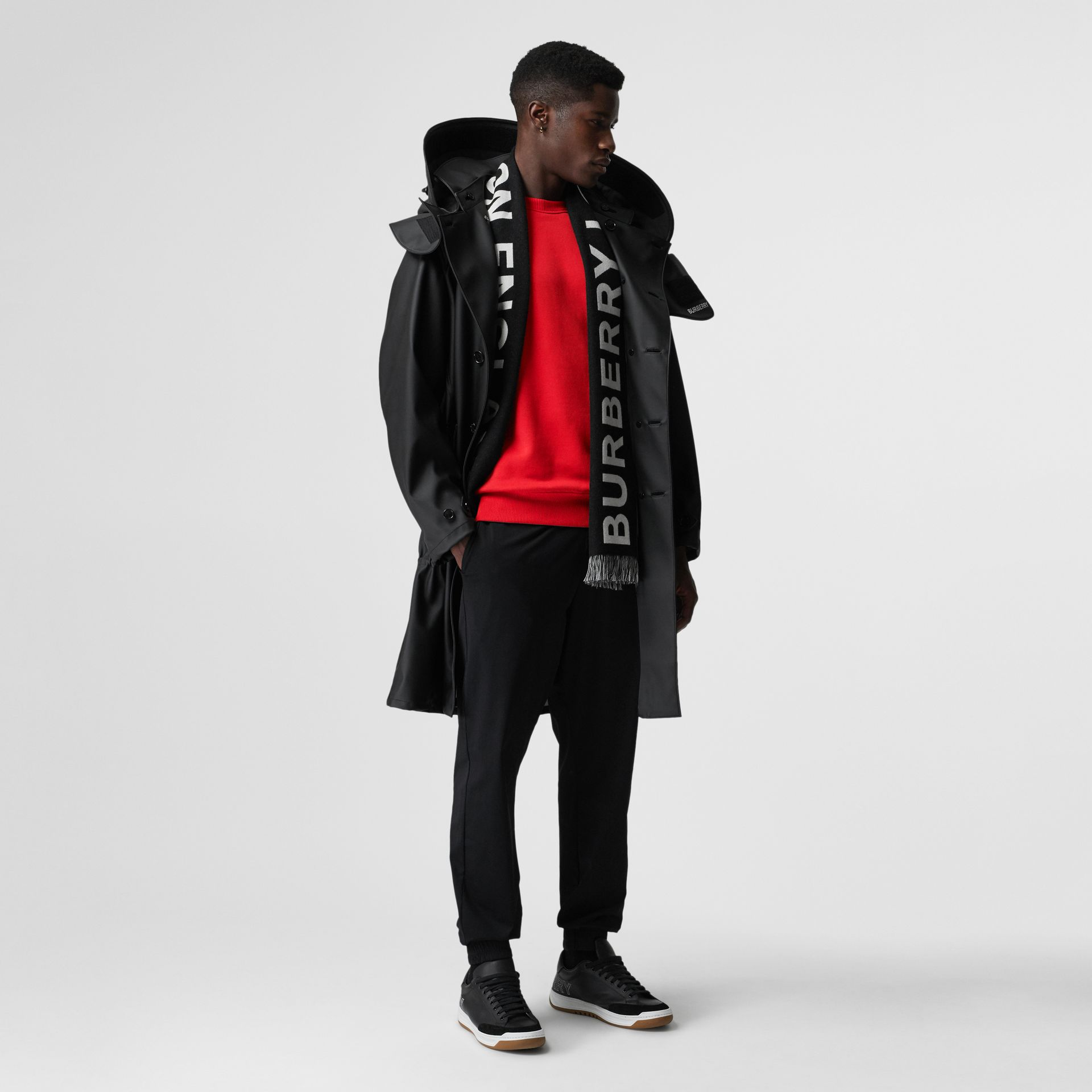Structured Hood Scuba Parka in Black - Men | Burberry - gallery image 0