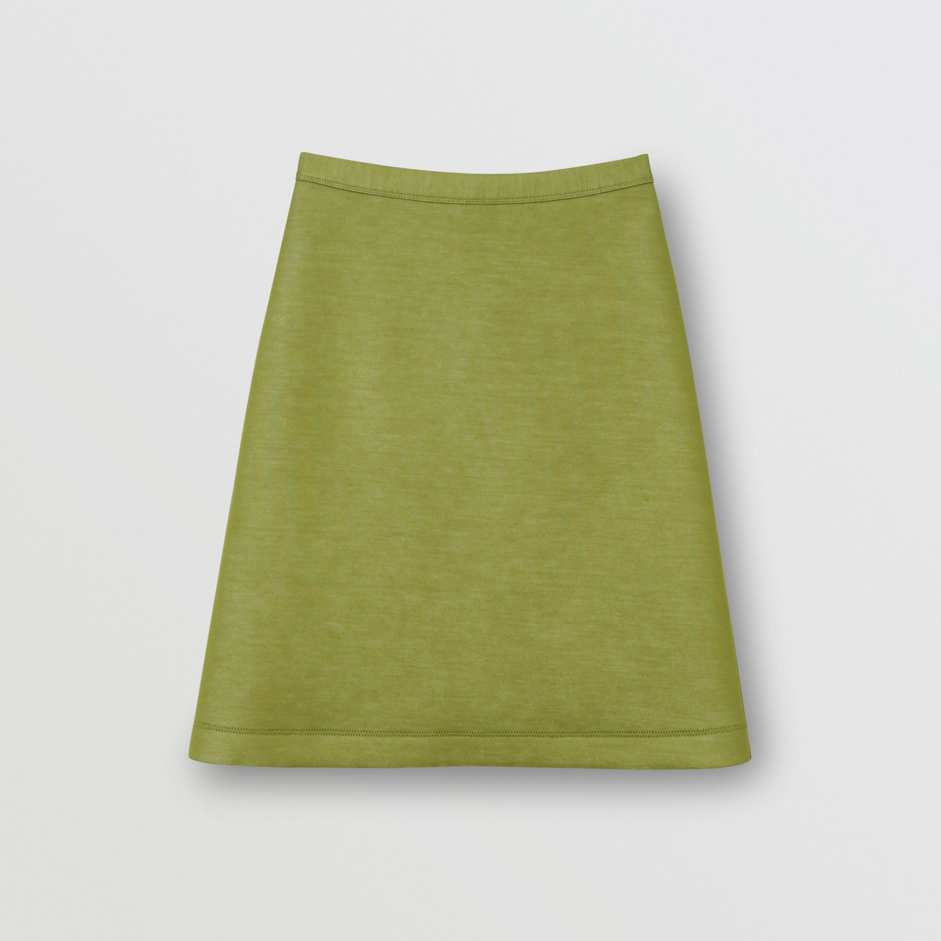 Double-faced Neoprene Skirt in Cedar Green - Women | Burberry - gallery image 3