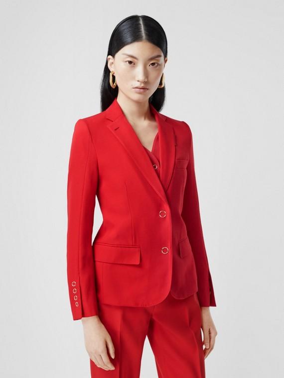 Chaqueta de vestir en lana con panel estilo chaleco (Rojo Intenso)
