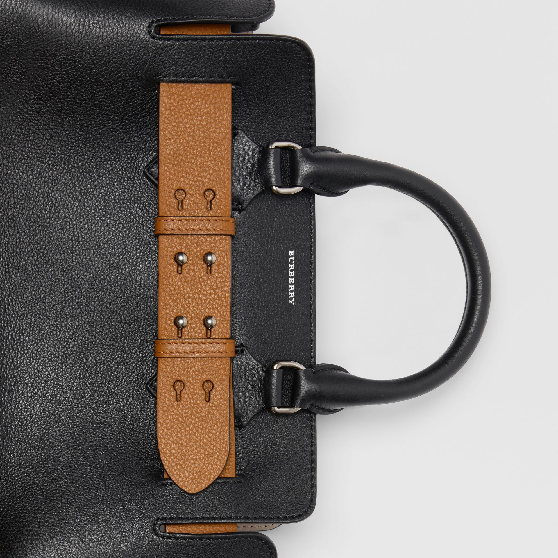 The Small Leather Belt Bag in Black - Women | Burberry United States - gallery image 1
