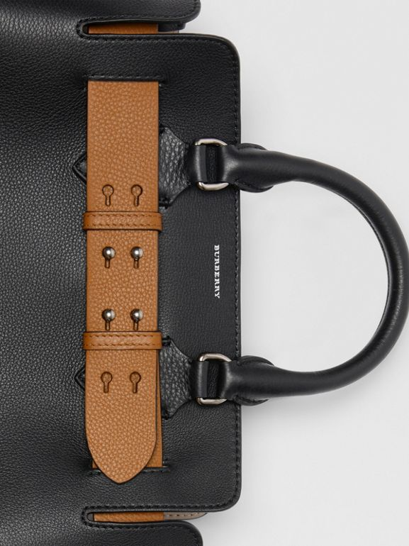 The Small Leather Belt Bag in Black - Women | Burberry Australia - cell image 1