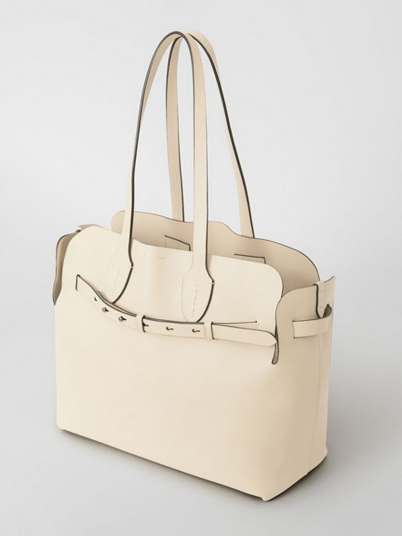 The Medium Soft Leather Belt Bag in Limestone