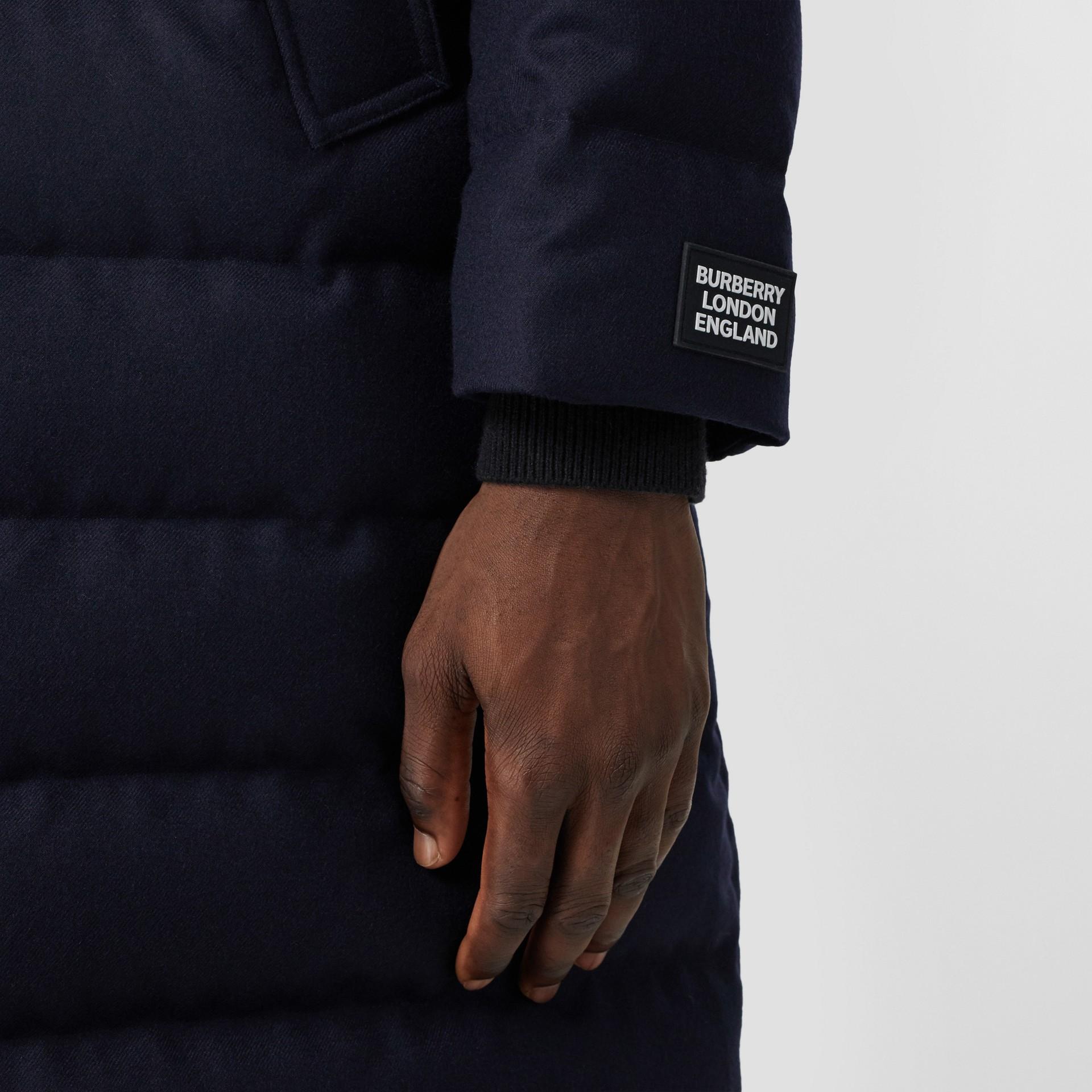 Wool Puffer Coat in Navy - Men | Burberry Canada - gallery image 4