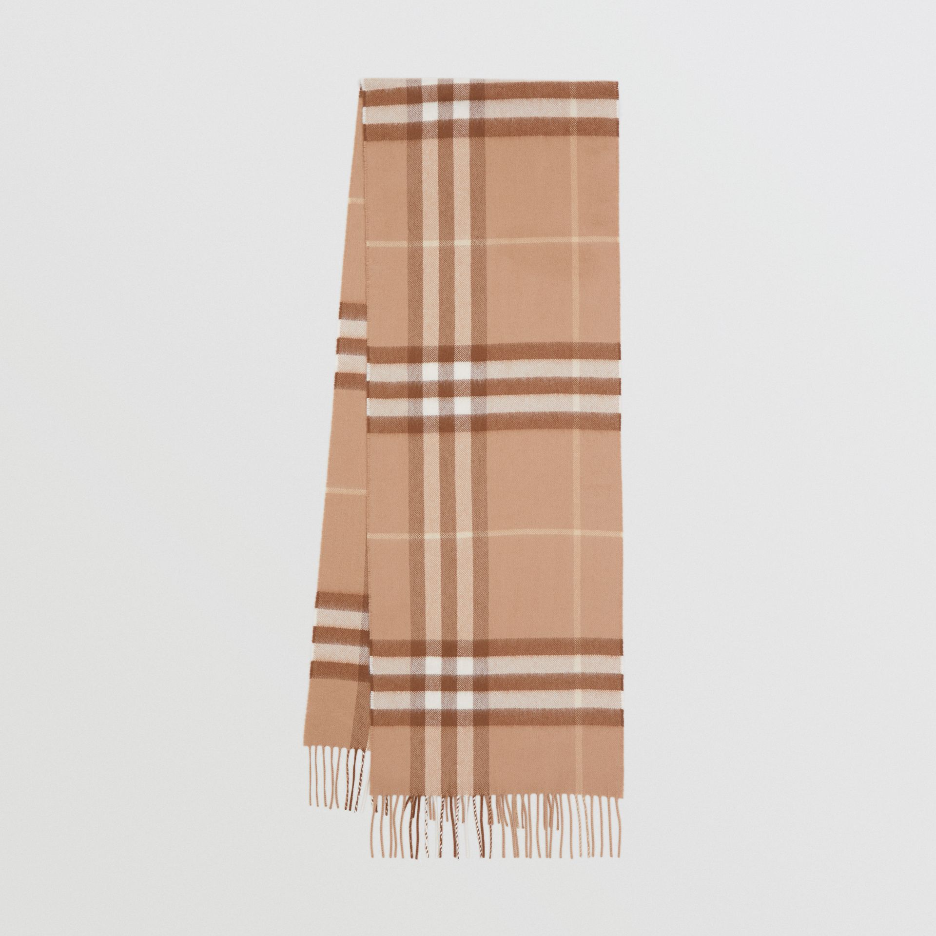 The Classic Check Cashmere Scarf in Mid Camel | Burberry Hong Kong S.A.R - gallery image 0