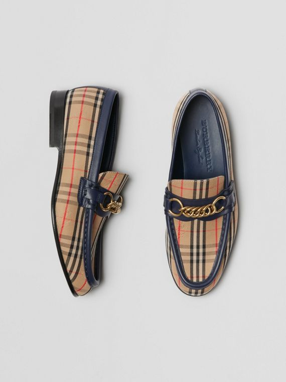 The 1983 Check Link Loafer in Ink Blue