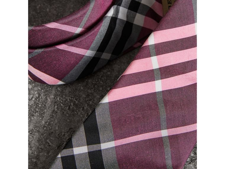 Modern Cut Check Silk Tie in Rose Pink - Men | Burberry - cell image 1