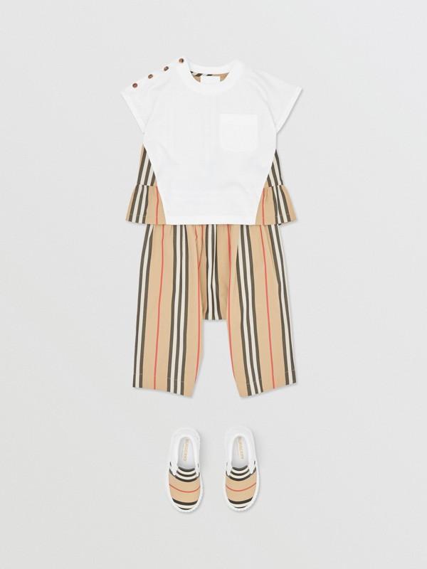 アイコンストライプパネル コットンTシャツ (ホワイト/アーカイブベージュ) - チルドレンズ | バーバリー - cell image 2