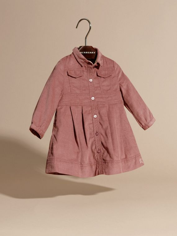 Pale ash rose Cotton Corduroy Shirt Dress Pale Ash Rose - cell image 2
