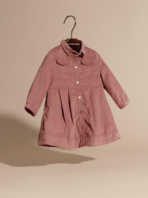 Rose cendré pâle Robe chemise en coton côtelé Rose Cendré Pâle - cell image 2