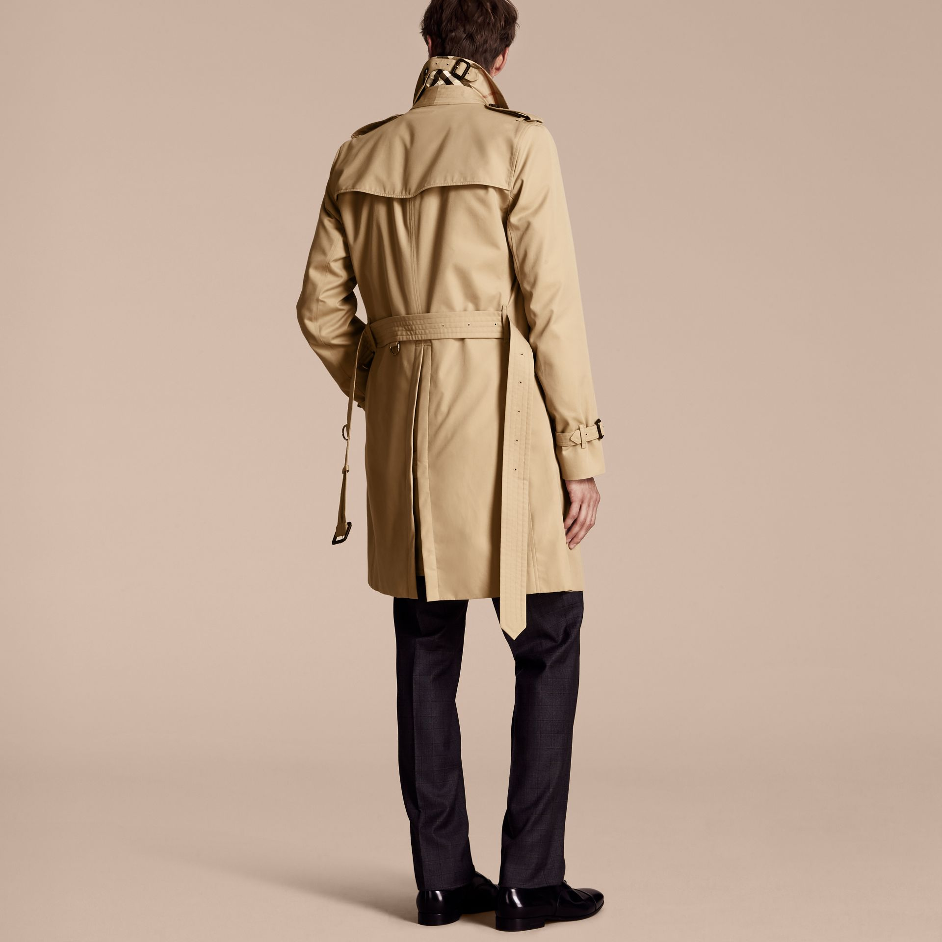 Honey The Kensington – Long Heritage Trench Coat Honey - gallery image 3