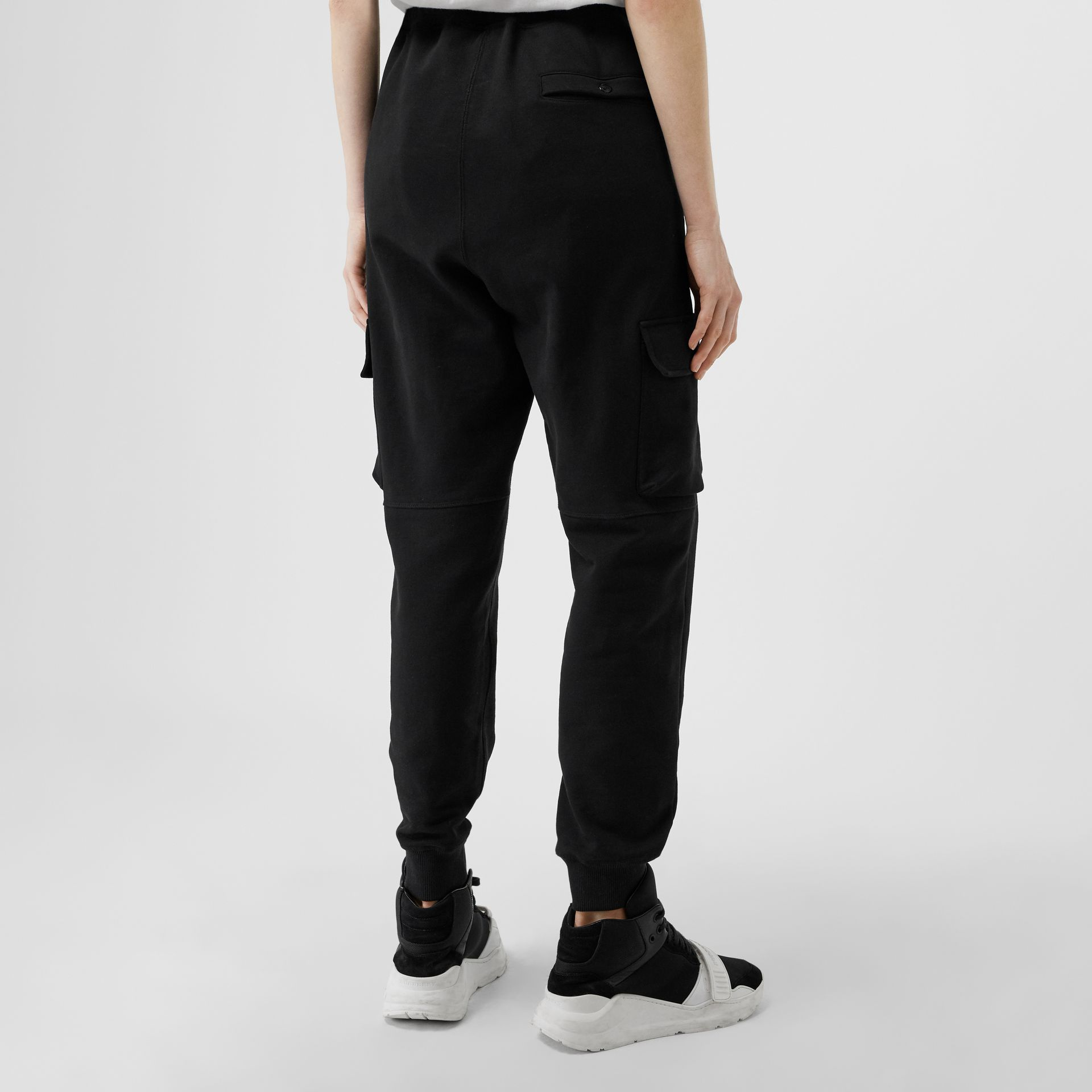 Pocket Detail Cotton Jersey Trackpants in Black - Women | Burberry - gallery image 2