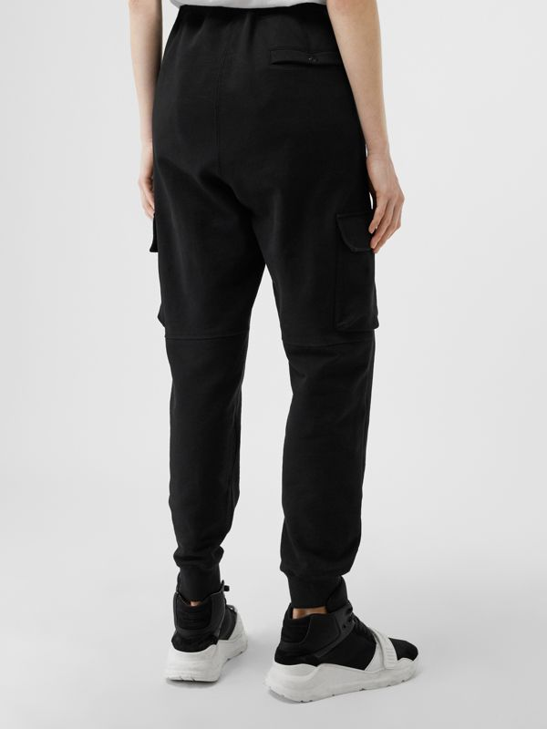 Pocket Detail Cotton Jersey Trackpants in Black - Women | Burberry United Kingdom - cell image 2