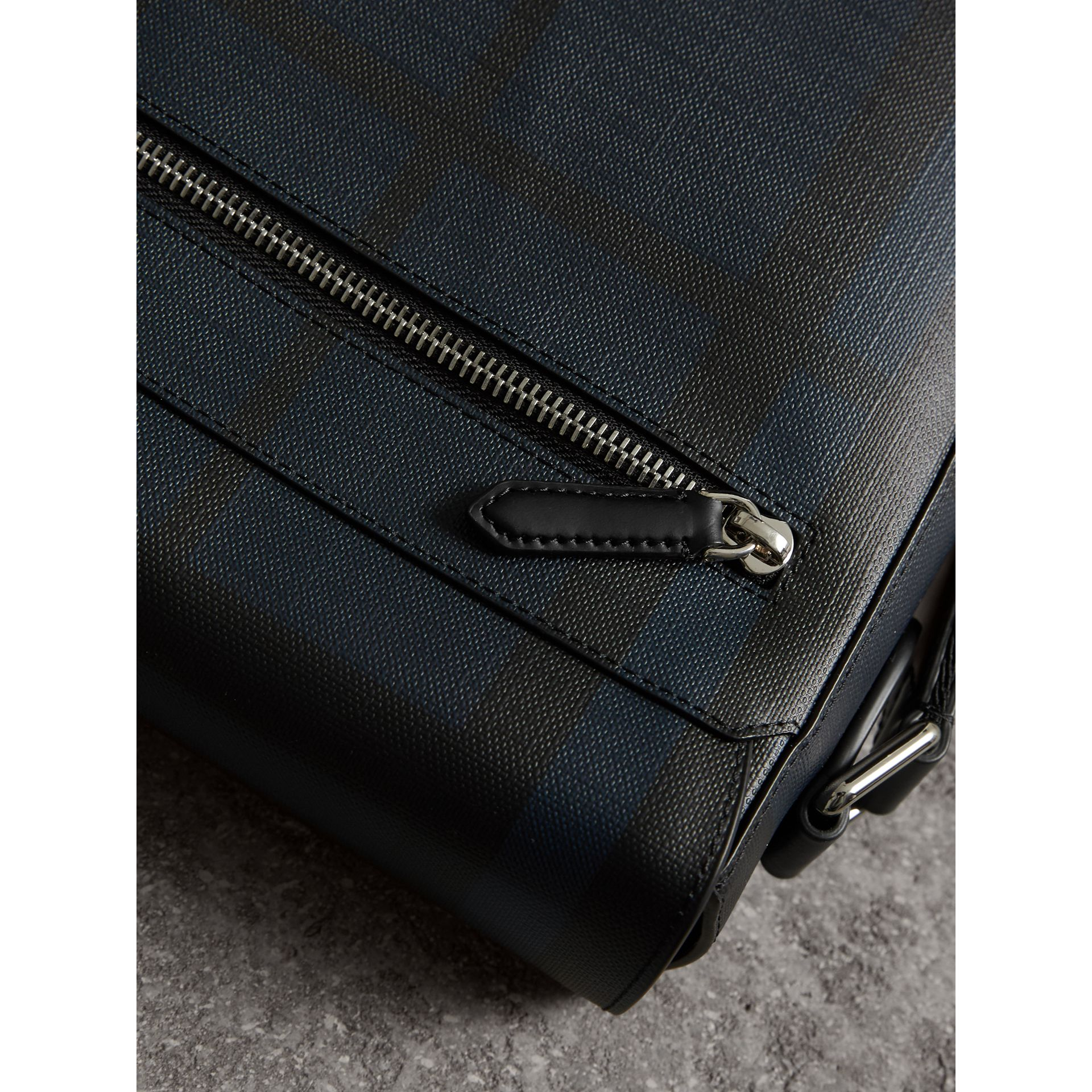 London Check Crossbody Bag in Navy/black - Men | Burberry United Kingdom - gallery image 1