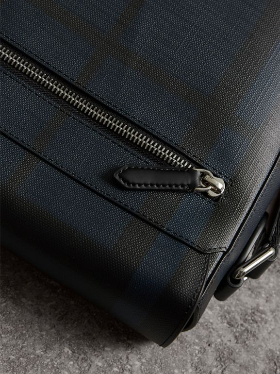 London Check Crossbody Bag in Navy/black - Men | Burberry United States - cell image 1