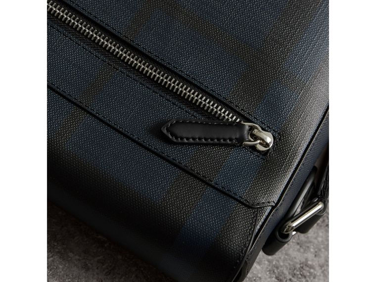 London Check Crossbody Bag in Navy/black - Men | Burberry United Kingdom - cell image 1