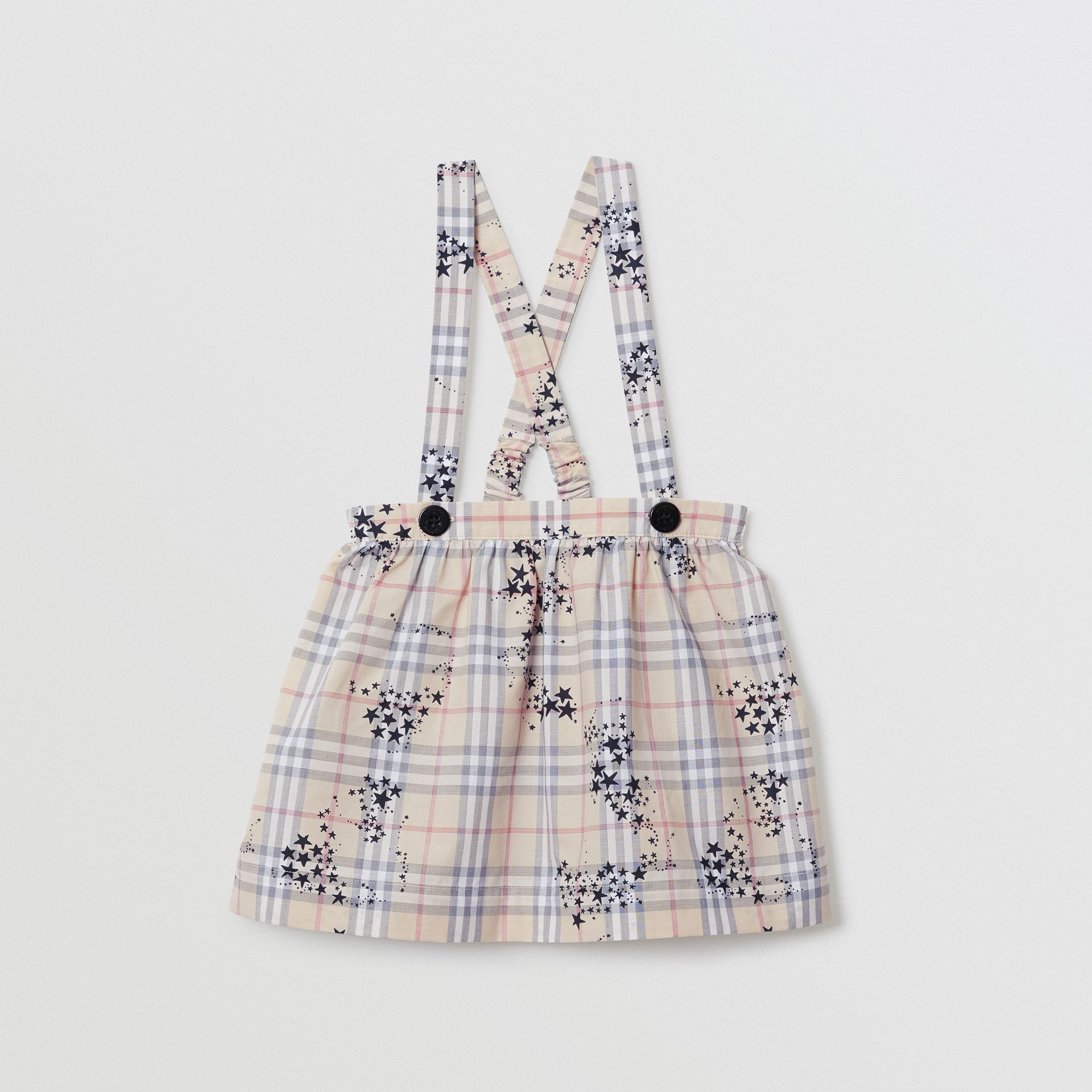 Star Print Check Cotton Two-piece Baby Gift Set in Bright Navy - Children | Burberry United States - gallery image 3