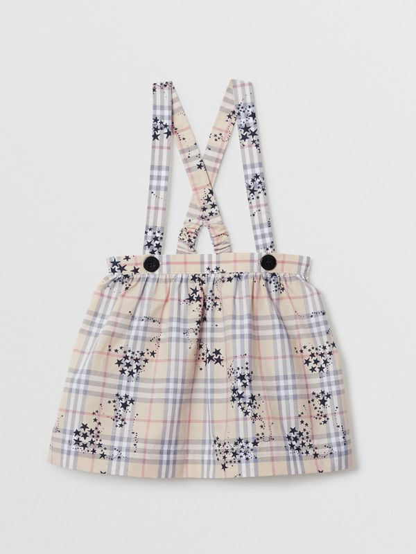 Star Print Check Cotton Two-piece Baby Gift Set in Bright Navy - Children | Burberry Australia - cell image 3