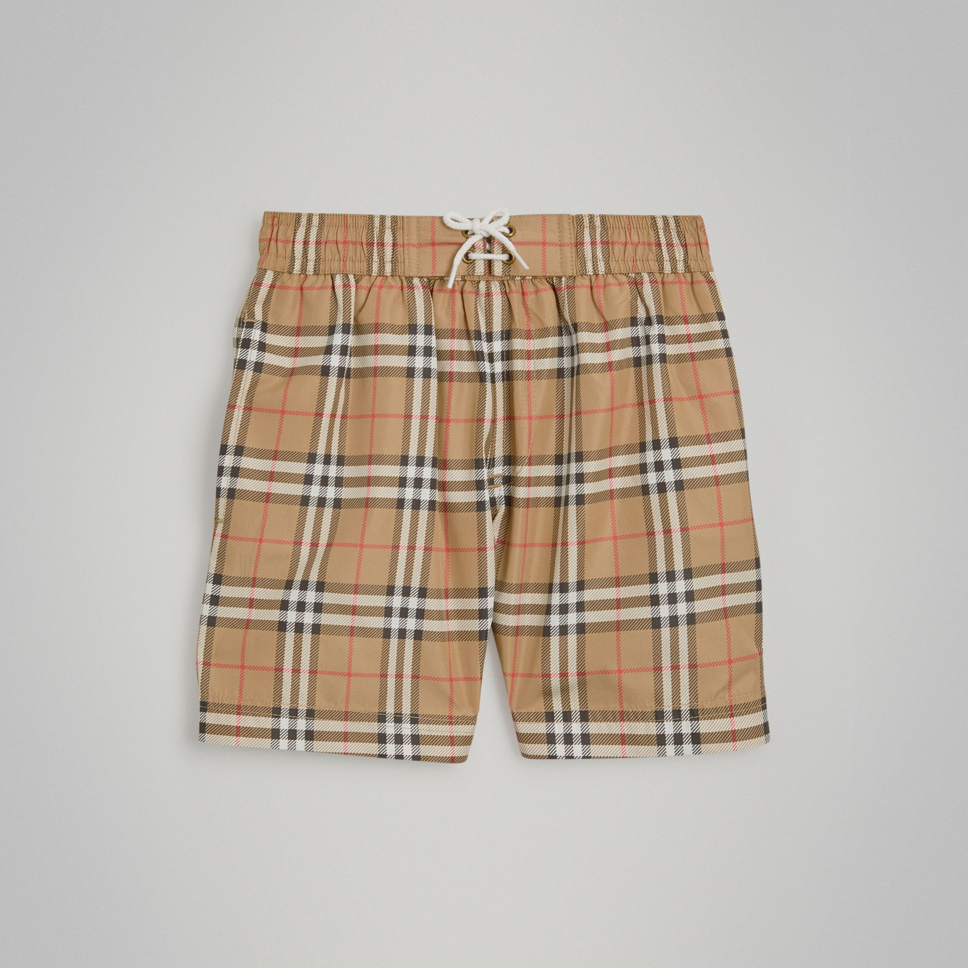 Vintage Check Swim Shorts in Camel - Boy | Burberry Australia - gallery image 0