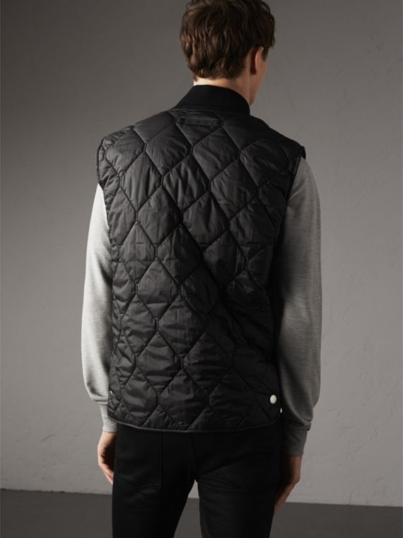 Diamond Quilted Gilet in Black - Men | Burberry Singapore - cell image 2