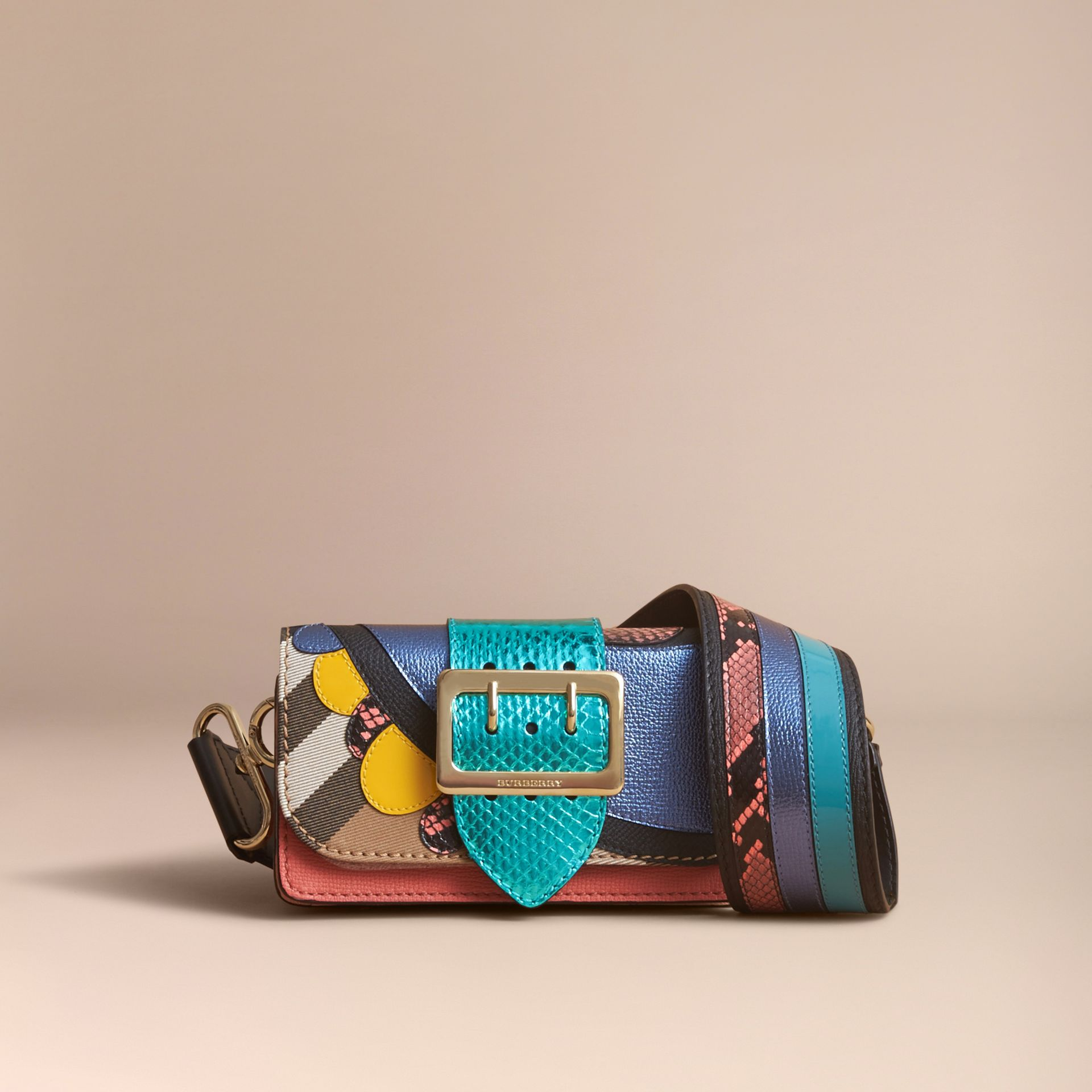 The Small Buckle Bag in House Check and Leather - gallery image 8