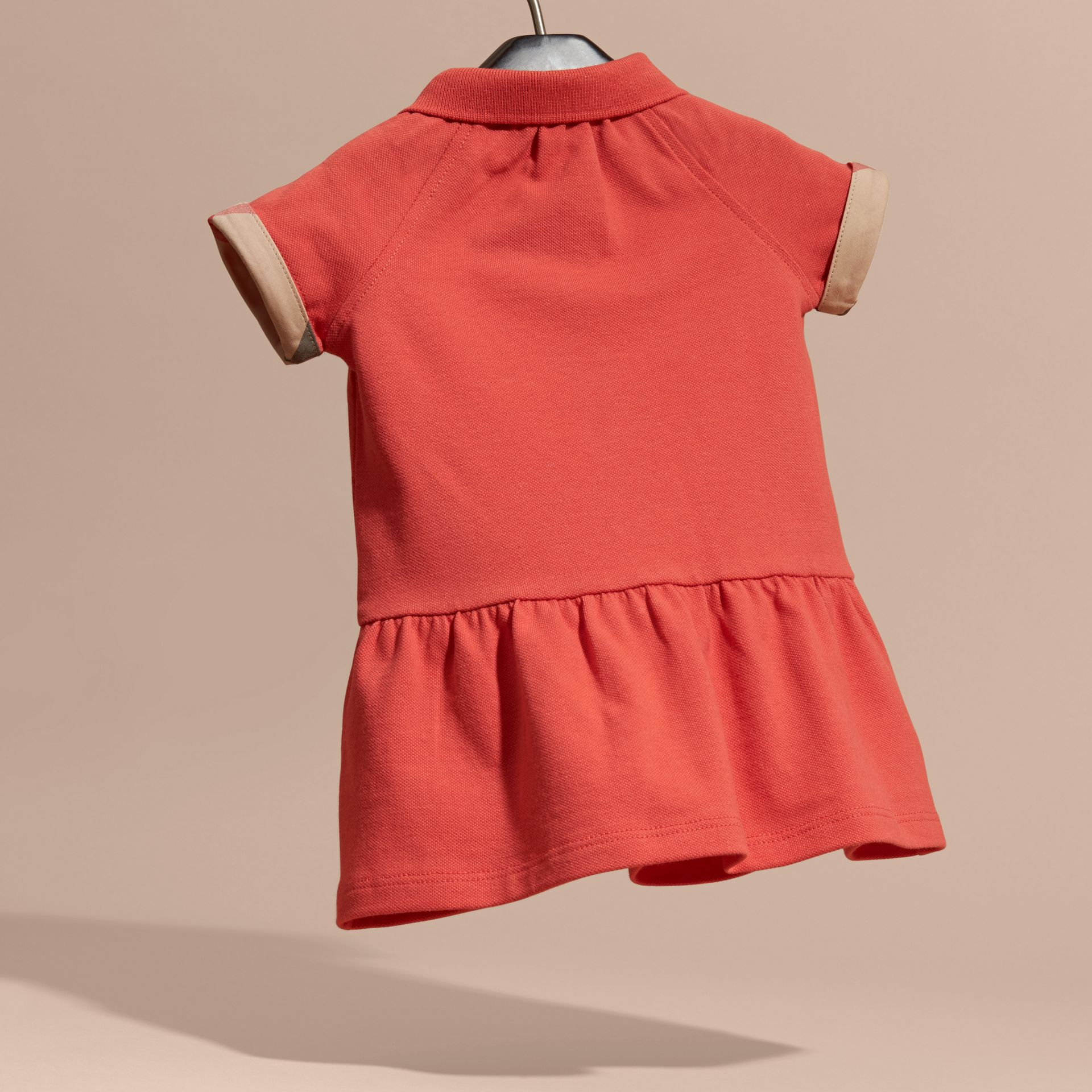 Check Detail Cotton Piqué Shirt Dress - gallery image 4
