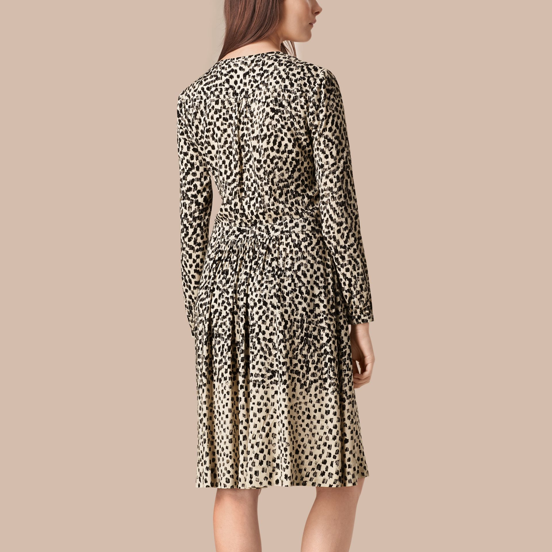 Stone Dash Print Shirt Dress Stone - gallery image 2