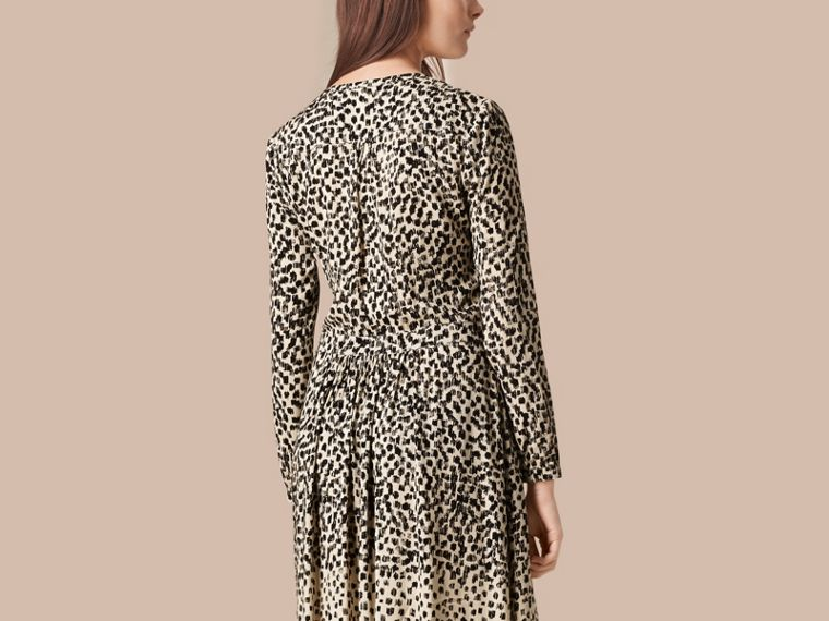 Stone Dash Print Shirt Dress Stone - cell image 1