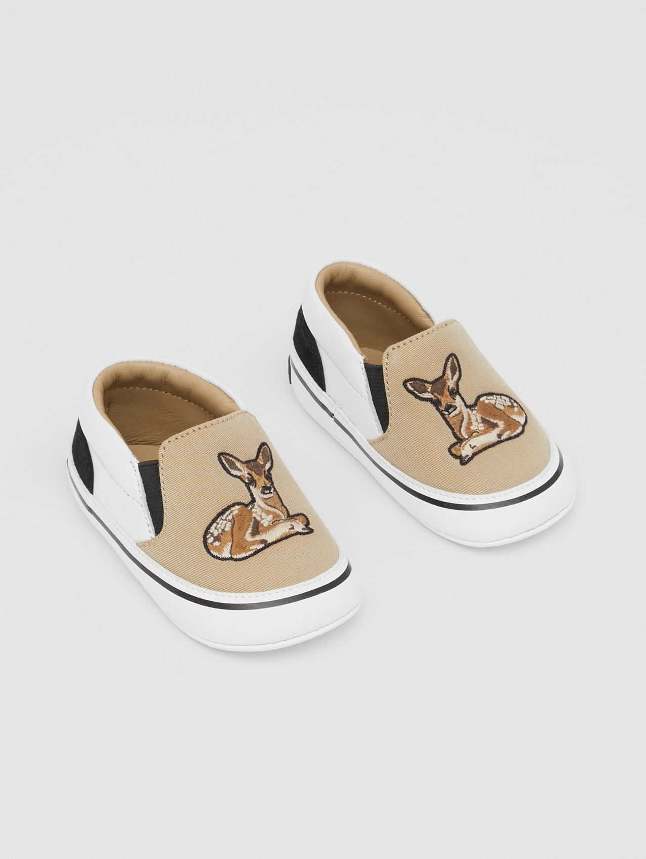 Deer Motif Slip-on Shoes in Honey