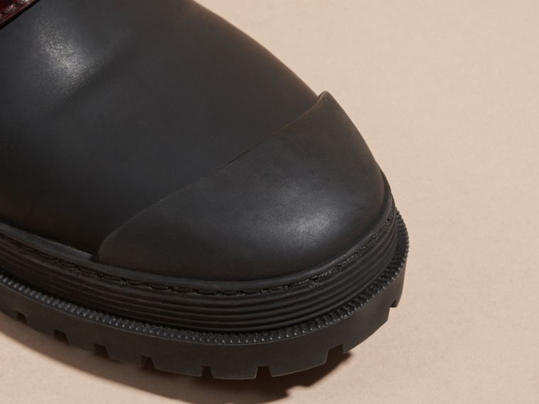 The Buckle Boot in Rubberised Leather - cell image 4