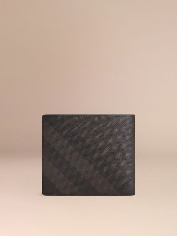 London Check International Bifold Coin Wallet in Chocolate/black - Men | Burberry - cell image 2