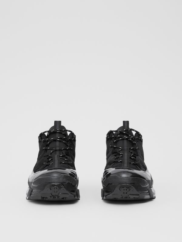 Nylon, Faux Nubuck and Mesh Arthur Sneakers in Black | Burberry - cell image 2