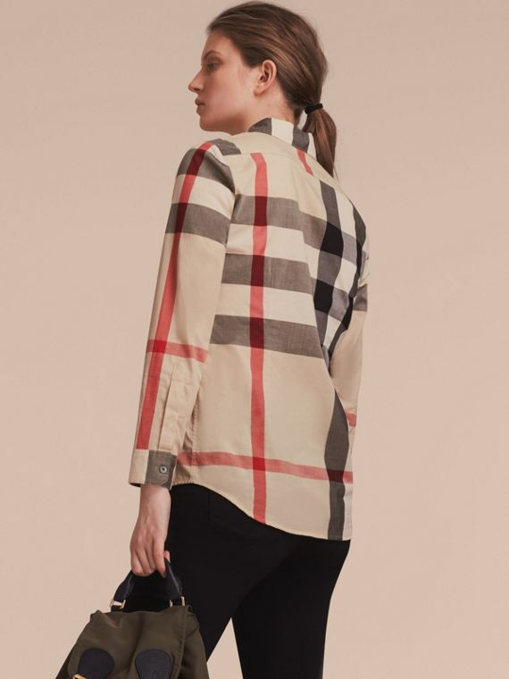 Check Cotton Shirt in New Classic - Women | Burberry Singapore - cell image 2